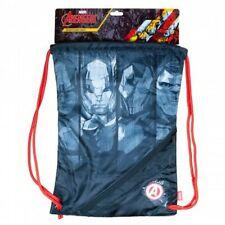 Ultimate Spiderman Shoe Bag Drawstring Swim Gym Dance PE Sports Boys Blue Marvel