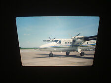 AIR ILLINOIS DHC-6-200 N659MA ON TARMAC CARBONDALE, IL. COLOR SLIDE 1970'S 35MM
