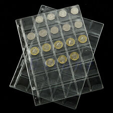 1 Pages 30 Pockets Classic Coin Holders Sheets For Storage Collection Album Case