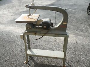 Delta Milwaukee Rockwell VTG Industrial Scroll Saw Millwork Shop 1/3 Hp 1 Phase