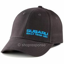 Subaru Rally Team USA Cap Hat Graphite with Blue Embroidery Adjustable Official
