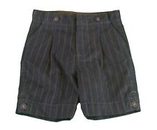 JACADI Boy's Fagne Navy Blue/Brown 3/4 Length Trousers Size 6 Months NWT $42