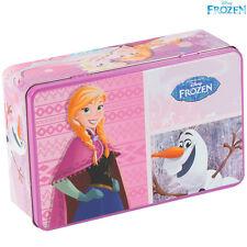 Scatola Frozen Box In Latta Alluminio Disney Bambine Olaf Elsa Anna Accessori
