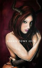 sexy art gothic fantasy pinup RUBY REDD 11x17 print signed by Shawn Howe