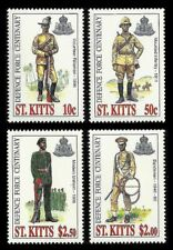 St. KITTS. Defense Force 1996 Scott 414-417. MNH (BI#38)