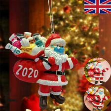 2020 Christmas Tree Hanging Ornaments Santa Personalised Bauble Xmas Decoration