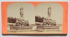 Montpellier Fontaine des 3 Grâces Stereo Vintage albumine ca 1875