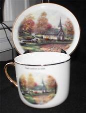 2003 Teleflora Thomas Kinkade Painter of Light The Aspen Chapel Cup & Saucer Set