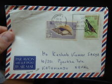 French New Caledonia Shell, Bird on 1971 A/M cover to Nepal (32beq)