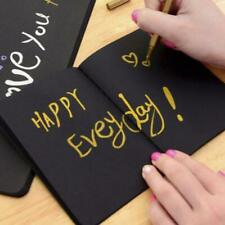 Black Paper Graffiti Notebook Sketch Book Diary For Painting Notepad Drawing New