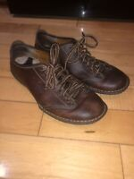 Born Men's Leather Lace-Up Casual Shoes Size 9 Brown