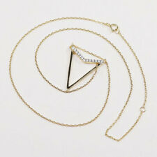 """16+2"""", Vermeil gold sterling silver necklace, 925 circle chain w/ pendant N Cz"""