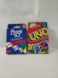 LOT(2) UNO WILD & PHASE 10 CARD GAME