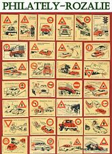 Safety Matches Czechoslovakia set matchbox labels Traffic Signs   (N 65)