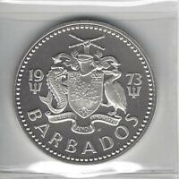 Barbados 1973 5 Dollars Silver Proof - Fountain