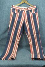 pants men slacks retro bell bottom stripe 60s-70s Lee denim waist 32 inseam 32