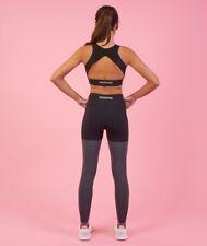 Nikki B Blackletter GYMSHARK Season 2 Black Marl Leggings Yoga Gym Sexy Size M