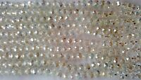 Joblot of 10 strings White clear 6mm round shape AB Crystal beads new
