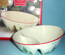 "Lenox Serving Bowl Divided Angle 8.75"" Holiday Inspirations & Illustrations New"