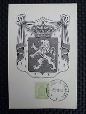 Belgio MK 1945 Stemma Leone Leone Lion maximum carta carte MAXIMUM CARD MC cm a8831