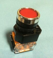 22MM Pushbutton Switch MAINTAINED Red 380V Max NO/NC 10A Contacts Latching