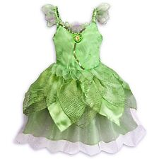 AUTHENTIC DISNEY STORE TINKER BELL Fairy Costume Green Dress w/ Cameo Large 10 M