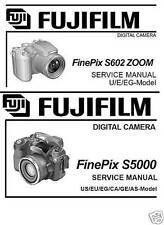 FUJI FILM FinePix S5000 S602 ZOOM DIGITAL CAMERA Service Service Repair Manuals
