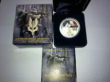 2007 $1 50th Ann Of Aust SAS 1oz Silver Proof Coin RARE SCARCE