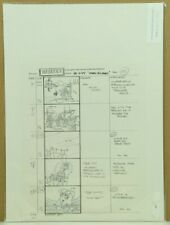 Beetlejuice Original Hand Drawn Storyboard Animation Sketch Page 133 (32-12)