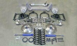 """1937-1939 Chevy Truck Mustang II Front Suspension Kit Power 2"""" Drop Slotted"""