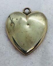Antique Victorian Yellow Gold Filled Heart Locket Pendant