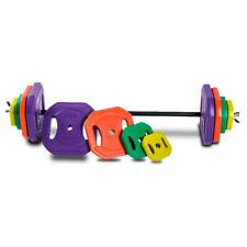 Juego de body pump, set pesas con barra  y discos de colores |De 20 a 50 Kg. - G