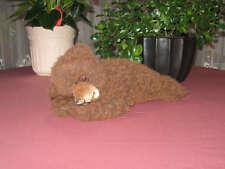 Vintage Brown German Laying Zotty Teddy Bear Dralon 70s