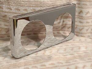 """1960's 70's Stewart Warner Chrome 2 Hole 2 5/8"""" Under Dash Panel NOS? Day 2 WOW!"""