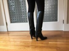 JOAN & DAVID COUTURE Vintage 80's Black Boots Size 10 (a small size 10)