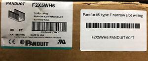 F2X5WH6 PANDUIT 60FT Panduct® type F narrow slot wiring duct, 2 W x 5 H, (10) 6'