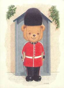 Clinton Postcard Teddy bear toy British soldier uniform