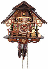 * BEER DRINKER *   Quality hand-carved, traditional German cuckoo clock