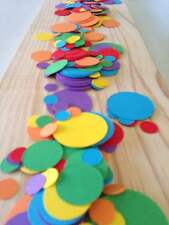rainbow table decoration confetti scatters