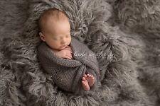 Oyster Grey Alpaca Faux Fur Photo Prop Newborn Nest 30 x 36 Inches Photography