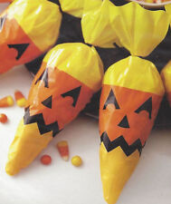 Candy Corn Shaped Face Halloween Treat Bags 15ct  from Wilton #5569 - NEW