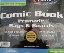 5 High Quality BCW Premade Resealable Current Comic Bag and Board