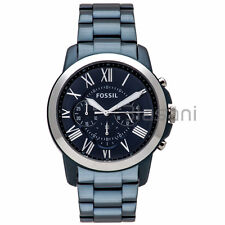 Fossil Original FS5230 Men's Grant Sport Blue Stainless Steel Watch 44mm Chrono