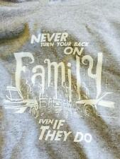 "PAUL WALKER ""NEVER TURN YOUR BACK ON FAMILY EVEN IF THEY DO"" LIMITED EDT HOODIE"