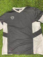 Nike Drifit Men Black Grey Men XXL Short Sleeve Athletic Tee Shirt
