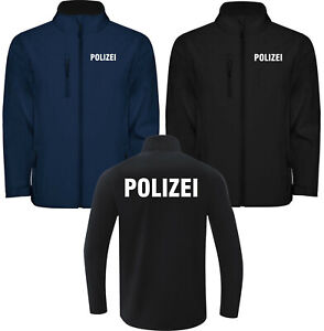 Polizei Softshell Softshelljacke Jacke Reflex Reflektierent Beamter Herren