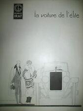 PUBLICITE DE PRESSE GEORGES IRAT AUTOMOBILE ILLUSTRATION RENé VINCENT AD 1924
