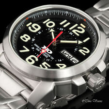 Reactor 42mm Atom Black Dial SS Bracelet Watch w/ Never Dark Technology - 68091