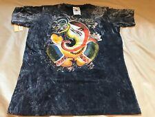 New Yoga Soft Cotton Thailand No Time Vintage Tshirt Hindu Ganesh Om Black Large