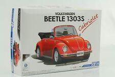 VW Volkswagen Beetle Käfer Cabriolet 1303 S 1973 Kit Bausatz 1:24 Aoshima 73